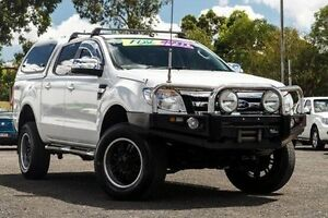 2012 Ford Ranger PX XLT Double Cab White 6 Speed Manual Utility Jamboree Heights Brisbane South West Preview