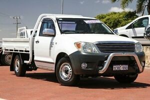2008 Toyota Hilux TGN16R MY08 Workmate White 5 Speed Manual Cab Chassis Spearwood Cockburn Area Preview
