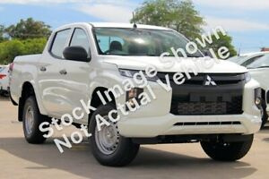 2018 Mitsubishi Triton MR MY19 GLX Double Cab ADAS White 6 Speed Sports Automatic Utility Hoppers Crossing Wyndham Area Preview