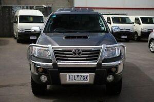 2012 Toyota Hilux KUN26R MY12 SR5 Double Cab Grey 4 Speed Automatic Utility Frankston Frankston Area Preview