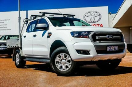2017 Ford Ranger PX MkII XLS Double Cab White 6 Speed Manual Utility Balcatta Stirling Area Preview