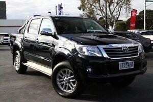 2015 Toyota Hilux KUN26R MY14 SR5 Double Cab Black 5 Speed Automatic Utility Frankston Frankston Area Preview