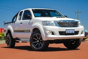 2012 Toyota Hilux KUN26R MY12 SR Xtra Cab White 5 Speed Manual Utility Spearwood Cockburn Area Preview