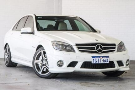 2009 Mercedes-Benz C63 W204 AMG White 7 Speed Sports Automatic Sedan Bellevue Swan Area Preview