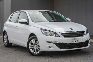 2015 Peugeot 308 T9 Active White 6 Speed Sports Automatic Hatchback
