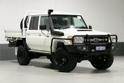 2014 Toyota Landcruiser VDJ79R MY12 Update GXL (4x4) White 5 Speed Manual Double Cab Chassis Bentley Canning Area Preview