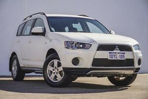 2012 Mitsubishi Outlander ZH MY12 LS White 6 Speed Constant Variable Wagon Bellevue Swan Area Preview