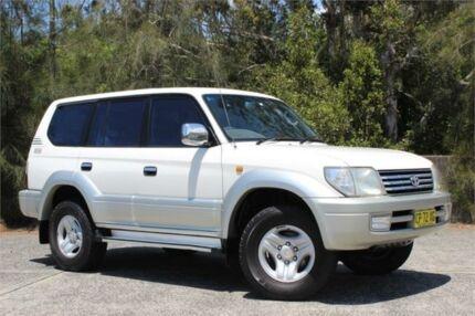 2000 Toyota Landcruiser Prado KZJ95R TX (4x4) White 5 Speed Manual 4x4 Wagon West Gosford Gosford Area Preview