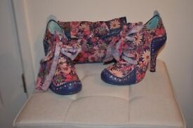 Irregular Choice Shoes with Matching Bag - Size 6 NWT
