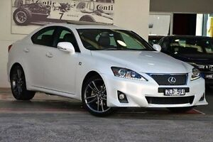 2012 Lexus IS250 GSE20R MY13 F Sport White 6 Speed Sports Automatic Sedan Doncaster Manningham Area Preview