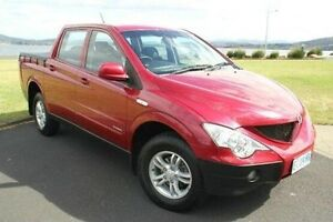 2007 Ssangyong Actyon Sports 100 Series Sports Red 5 Speed Manual Utility Derwent Park Glenorchy Area Preview