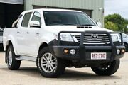 2014 Toyota Hilux KUN26R MY14 4X4 Dual Range SR5 White 5 Speed Dual CabUtility Eagle Farm Brisbane North East Preview