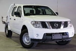 2011 Nissan Navara D40 S6 MY12 RX DUAL CAB White Manual Cab Chassis Northgate Brisbane North East Preview