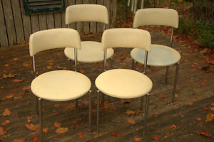 VINTAGE 1960'S VINYL AND CHROME KITCHEN CHAIRS
