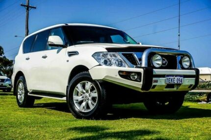 2013 Nissan Patrol Y62 ST-L White 7 Speed Sports Automatic Wagon