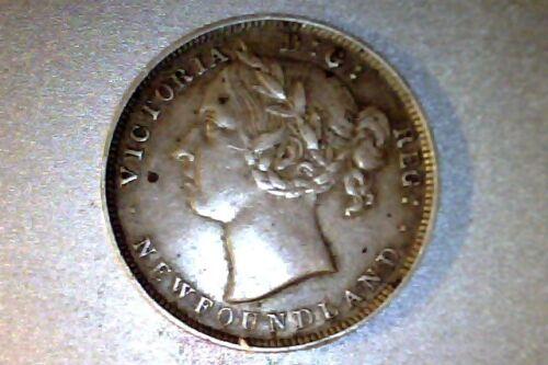 1899 Newfoundland Canada 20 Cents XF HIGH GRADE