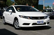 2015 Honda Civic 9th Gen Ser II MY15 VTi White 5 Speed Sports Automatic Sedan Victoria Park Victoria Park Area Preview
