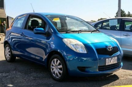 2007 Toyota Yaris NCP90R YR Blue 5 Speed Manual Hatchback Ringwood East Maroondah Area Preview