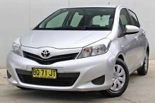 2012 Toyota Yaris NCP130R YR Silver 4 Speed Automatic Hatchback Baulkham Hills The Hills District Preview