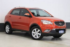2012 Ssangyong Korando C200 SX Orange 6 Speed Automatic Wagon Bentley Canning Area Preview
