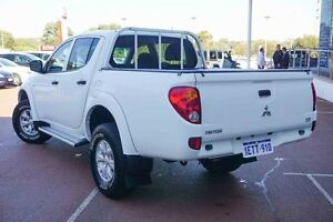 2015 Mitsubishi Triton MN MY15 GLX Double Cab White 4 Speed Sports Automatic Utility Wangara Wanneroo Area Preview