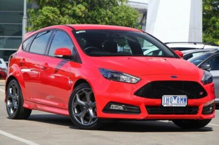 2016 Ford Focus LZ ST Red 6 Speed Manual Hatchback Airport West Moonee Valley Preview