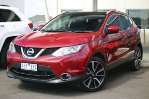 2016 Nissan Qashqai J11 TL Burgundy 1 Speed Constant Variable Wagon