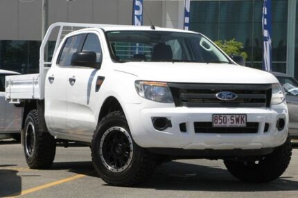 2013 Ford Ranger PX XL Double Cab White 6 Speed Sports Automatic Utility Nundah Brisbane North East Preview