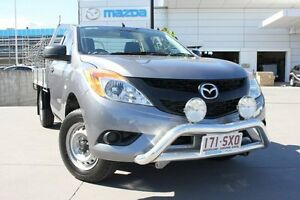 2012 Mazda BT-50 UP0YD1 XT 4x2 Titanium Grey 6 Speed Manual Cab Chassis Maroochydore Maroochydore Area Preview