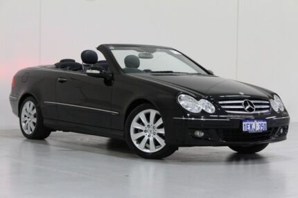 2005 Mercedes-Benz CLK350 C209 MY06 Elegance Black 7 Speed Automatic G-Tronic Cabriolet Bentley Canning Area Preview