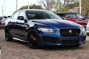 2015 Jaguar XE X760 MY16 S Blue 8 Speed Sports Automatic Sedan Osborne Park Stirling Area Preview