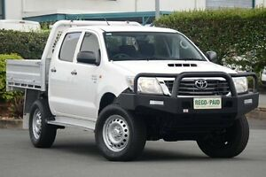 2014 Toyota Hilux KUN26R MY14 SR Double Cab Glacier White 5 Speed Automatic Cab Chassis Acacia Ridge Brisbane South West Preview