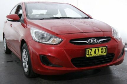 2014 Hyundai Accent RB2 Active Boston Red 4 Speed Sports Automatic Sedan Maryville Newcastle Area Preview