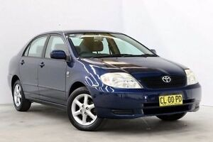 2004 Toyota Corolla ZZE122R 5Y Conquest Blue 4 Speed Automatic Sedan Seven Hills Blacktown Area Preview