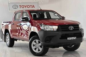 2015 Toyota Hilux GUN125R Workmate Double Cab Olympia Red 6 Speed Sports Automatic Utility Waterloo Inner Sydney Preview