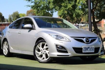 2011 Mazda 6 GH1052 MY10 Luxury Sports Silver 5 Speed Sports Automatic Hatchback