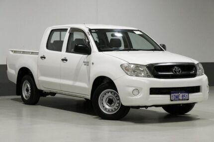2010 Toyota Hilux GGN15R MY11 Upgrade SR White 5 Speed Automatic Dual Cab Pick-up Bentley Canning Area Preview
