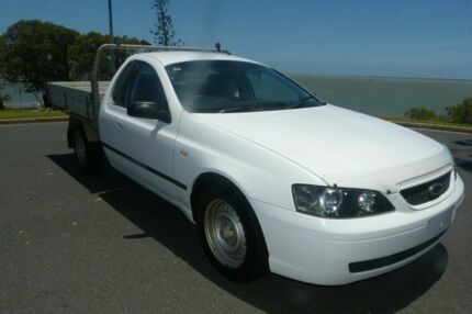 2004 Ford Falcon BA Mk II XL Super Cab White 4 Speed Sports Automatic Cab Chassis South Gladstone Gladstone City Preview