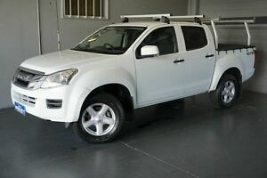2013 Isuzu D-MAX TF MY12 LS-M HI-Ride (4x4) White 5 Speed Manual Crew Cab Utility Woodridge Logan Area Preview