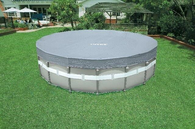 Telo di copertura Intex 28040 deluxe per piscina Ultra Frame da 488 cm - Rotex