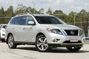 2013 Nissan Pathfinder R52 MY14 Ti X-tronic 2WD Silver 1 Speed Constant Variable Wagon