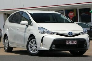 2015 Toyota Prius v ZVW40R Pearl White 1 Speed Constant Variable Wagon Woolloongabba Brisbane South West Preview