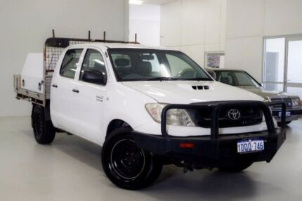 2011 Toyota Hilux KUN16R MY12 SR Double Cab White 5 Speed Manual Utility