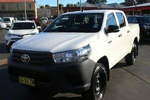 2015 Toyota Hilux GUN125R Workmate (4x4) White 6 Speed Automatic Dual Cab Utility South Maitland Maitland Area Preview
