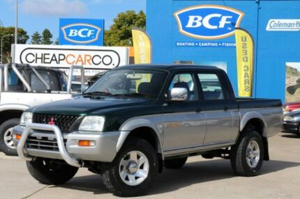2003 Mitsubishi Triton MK MY04 GLS Double Cab Green 4 Speed Automatic Utility Greenslopes Brisbane South West Preview