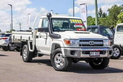 2017 Toyota Landcruiser VDJ79R GXL French Vanilla 5 Speed Manual Cab Chassis