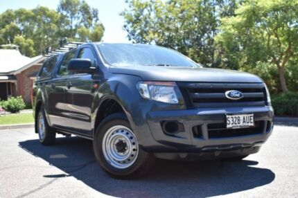 2012 Ford Ranger PX XL Double Cab 4x2 Grey 5 Speed Manual Utility St Marys Mitcham Area Preview