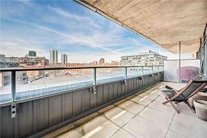 1 Bed+Den Loft- Large Terrace & Polished Floors!