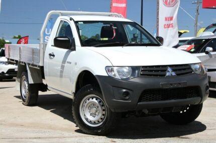 2013 Mitsubishi Triton MN MY15 GL White 5 Speed Manual Cab Chassis