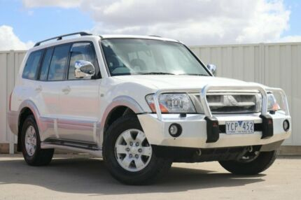 2003 Mitsubishi Pajero NP Exceed White 5 Speed Sports Automatic Wagon South Morang Whittlesea Area Preview